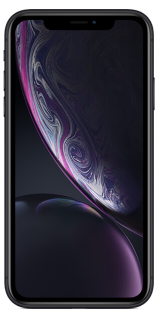 iPhoneXr front facing in black