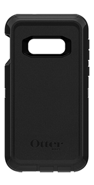 Otter Box Defender Case for Samsung Galaxy S10e front facing in black