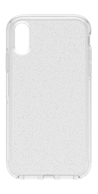 OtterBox Symmetry Case for Apple iPhone XR facing in silver Stardust