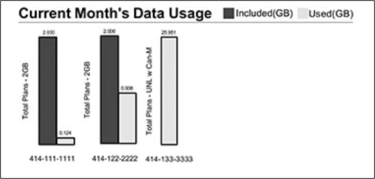 Current Month's Data Usage
